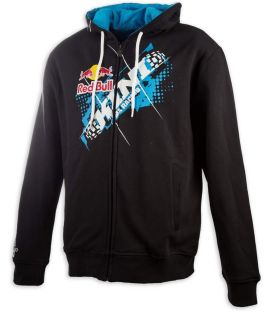 KINI-RB Chopped Hoodie Black/Blue