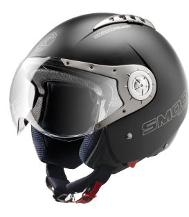Casque Scooter Jet  Blacky by Smook