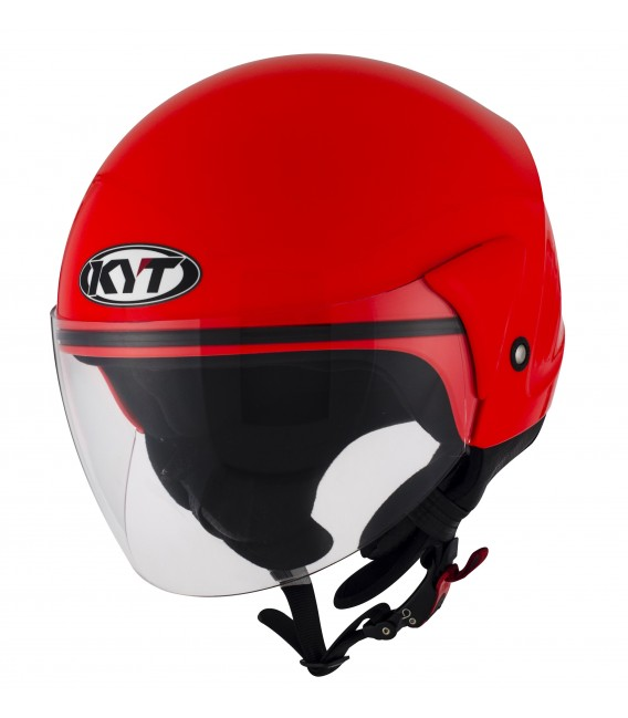 Casque Jet COUGAR plain red fluo