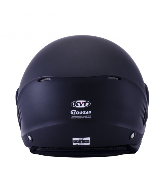 Casque Jet COUGAR plain matt black