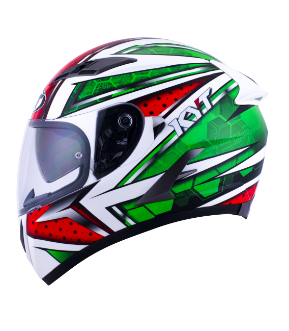 Casque intégral FALCON all stars red green
