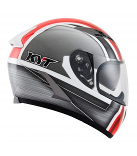 Casque intégral FALCON sim white red fluo
