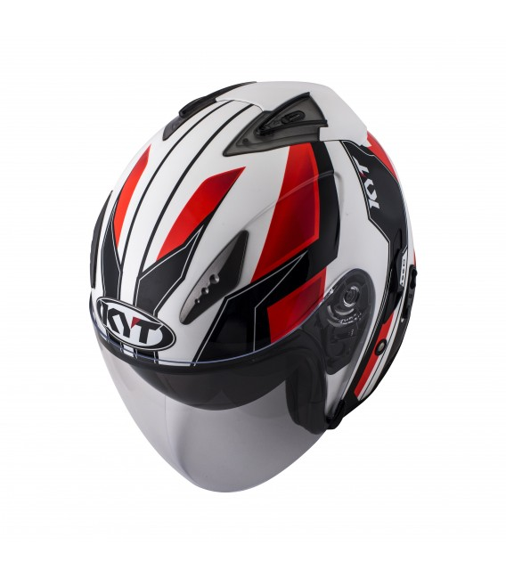 Casque Jet HELLCAT GX-S white red