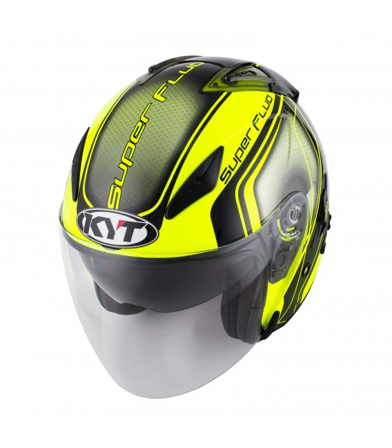 Casque Jet HELLCAT superfluo yellow