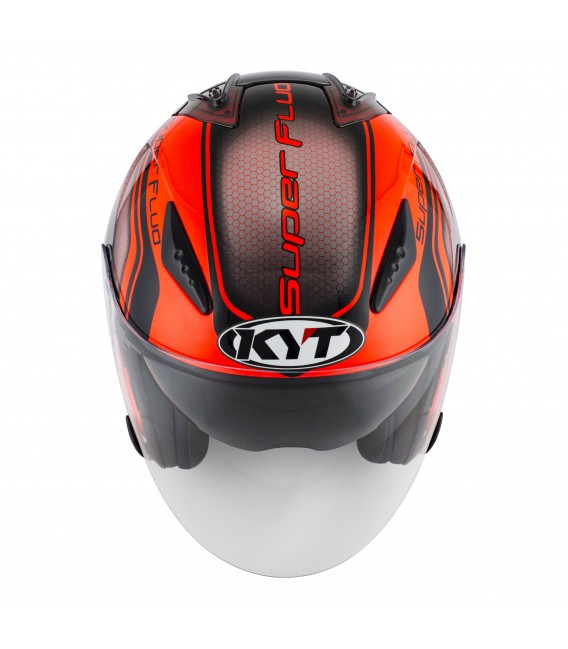 Casque Jet HELLCAT superfluo red