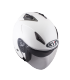 Casque Jet HELLCAT pearl white